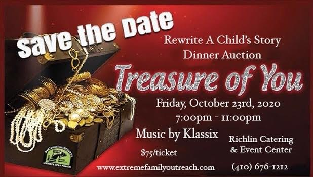 """Treasure of You"" Fundraiser Oct 23 2020"