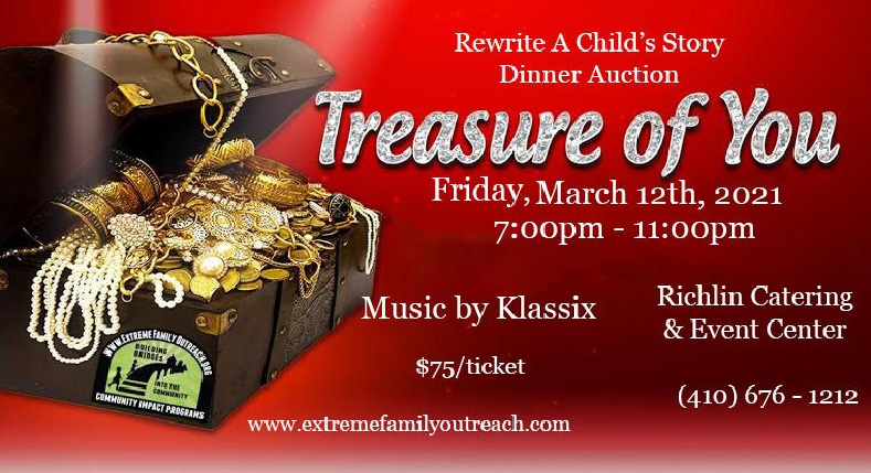 Event Fundraiser Treasure of You Dinner Auction March 12 2021